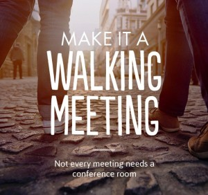 Graphic: Walking meeting