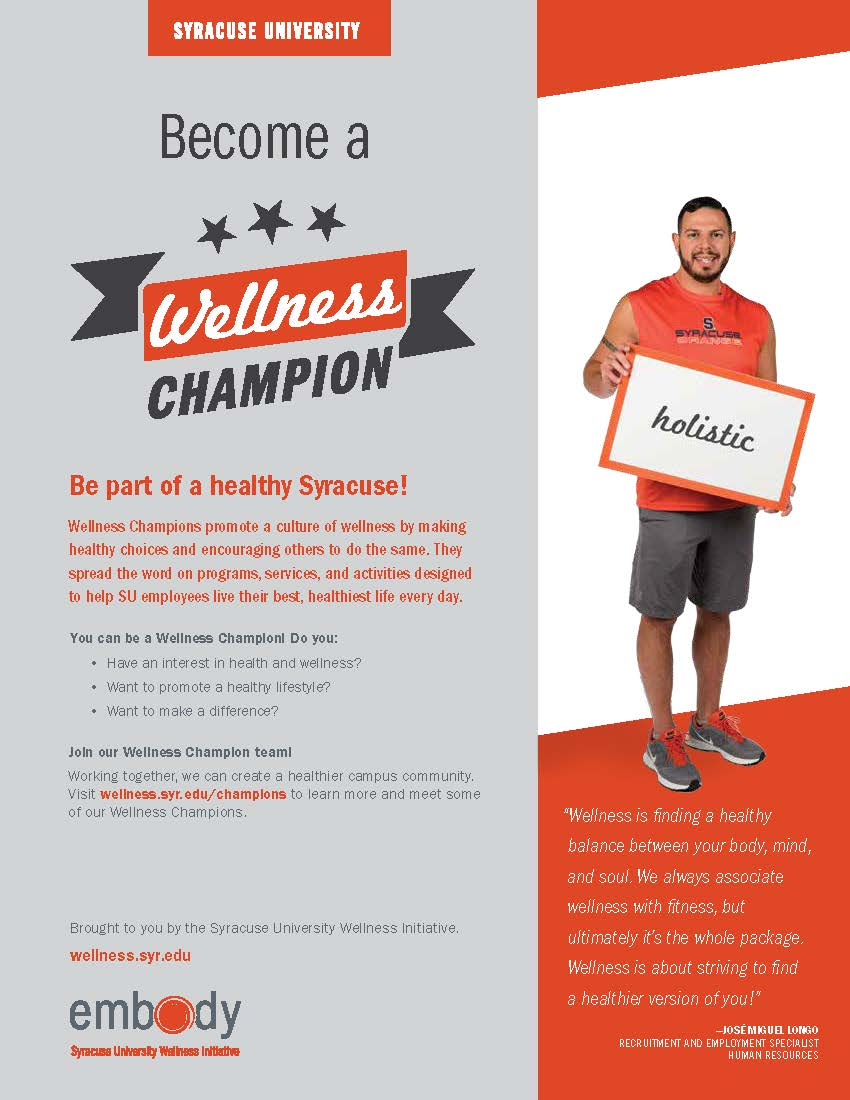 Graphic: thumbnail of Wellness Champion flyer
