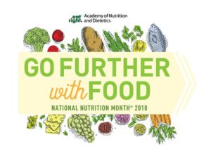 Logo: Eat right, go further with food