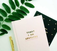 a journal with the words today I am grateful for