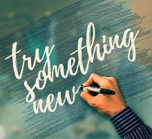 The words try something new